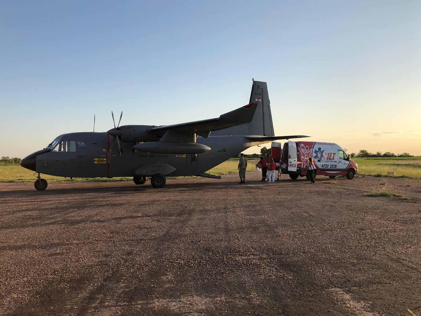 Fuerza Aérea trasladó a paracaidista accidentado en la zona de El Jagüel